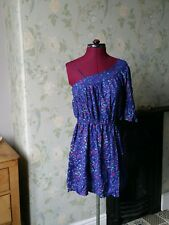 ladies vintage dresses size 1970s clothing cold shoulder blue heart design uk