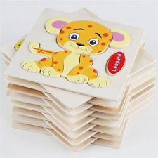 Wooden Blocks Animals Fruit Kid Children Educational Kids Toy Puzzle Random DL5Q
