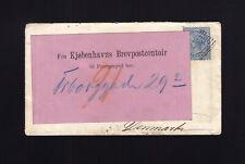 NEW ZEALAND: 1870 6d Single USE to DENMARK - FORWARD LABEL