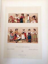 Costumi italiani ITALIE  XIX RACINET 1888 OSTIA-SONNINO-CERVARA-AGNANI-CIOCIARE