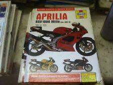 Aprilia RSV1000 RSV 1000 Mille 98-03 Haynes Manual # 4255 Hardback