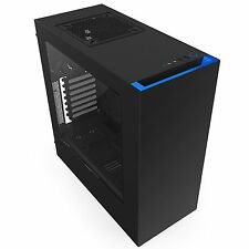 Nzxt 176145 Case S340 Atx Mid Tower No Power Supply 0/0/[3] Bay Usb Black Blue