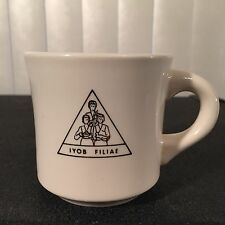 Vintage 80s Jobs Daughters IYOB FILIAE Deputy Grand Guardian Coffee Mug Masonic