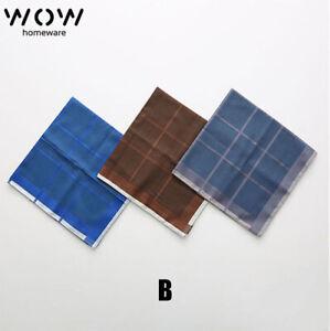 Men's 100% Pure Cotton Handkerchiefs Pocket Square Hanky Bulk Premium superSoftB