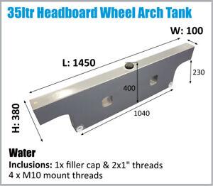 Hilux Dual Cab Ute Wheel Arch Water Tank Headboard 35L 4x4 4WD Styleside