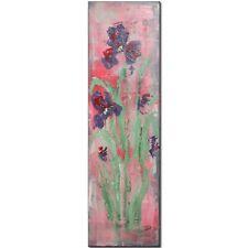 NB * Iris * 30 x 100 cm * ABSTRACT * Flowers * Original * DECO * ART * painting * Vintage Style * Unique!