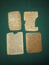 Collection of4 hebrew Manuscript Beautiful 150-350 Year judaica Handwritten rare
