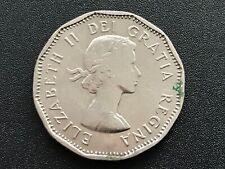 1961 Canadian 5 Cent Coin Queen Elizabeth II