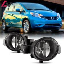 For Nissan Versa 12-18 Clear Lens Pair Bumper Fog Light Lamp OE Replacement DOT
