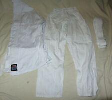 Child Kid Karate Martial Arts Uniform Size 00, Belt 0 - White *√8245*