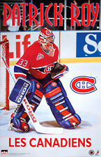 PATRICK ROY Montreal Canadiens NHL Hockey Vintage Original Action POSTER (1993)