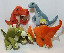 Lot of 4 Plush Dinosaurs Animal Adventure