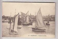 CPA  GRANVILLE 50  -  BATEAU BOAT VOILIER VOILE SAILSHIP PECHE PORT 1910 ~B41