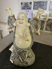 More details for vintage chinese scrimshaw large laughing buddha