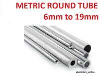 ALUMINIUM ROUND TUBE METRIC 6mm 8mm 10mm 12mm 13mm 14mm 15mm 16mm 18mm 19mm 1