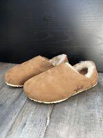 OTZ Womens Slip On Corkcushion Loafers Chestnut Brown, Suede, NWT —-EU 36 US 6