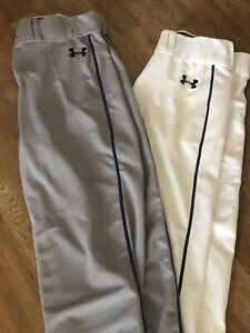 UNDER ARMOUR Adult Men's Baseball Pants Open Bottom  - Medium