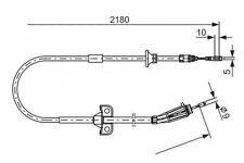 Volvo Xc90 2002-2016 30793828 30681683 30636224 Handbrake Cable 2180mm