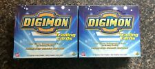 2 - Digimon Digital Monsters Trading Cards Factory Sealed Box Upper Deck/Bandai
