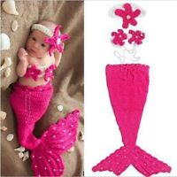 Newborn Baby Infants Crochet Turtle Mermaid Clothes Costume Photo Photography US