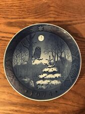 Royal Copenhagen Winter Twilight Owl Plate 1974