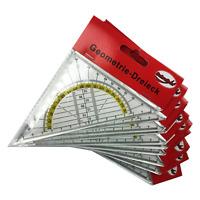 10er-Set Geodreieck 16cm - Geometria Triangolare Riga Scuola Triangolo di Segno
