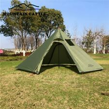Ultralight Camping Teepee 3-4Person Big Pyramid Hiking Outdoor Tent Backpacking