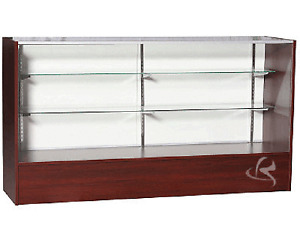 """Glass Display Cabinet 70""""  Full Vision Showcase Display Cabinet Counter  #SC6C"""