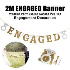 ENGAGED Engagement Party Bunting Banner Garland Photo Prop Hanging Decor  @ne