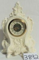 Vintage Ivory Porcelain CHERUBS West Germany Robin Mantel Clock for Repair 3892