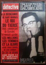 DETECTIVE 24/03/1966; La déchéance de Gaby Bourhis, le roi du tiercé