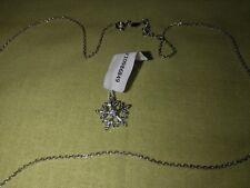 Juwelkerze*Daniela Katzenberger*Halskette*925 Silber*Schneeflocke*Neu