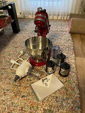 kitchenaid Küchenmaschine Rot Voll Funktionstüchtig mit viel Zubehör