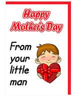 Mutter - Stepmum - Nan - Oma - Muttertag Karte - aus Ihrem Little Man