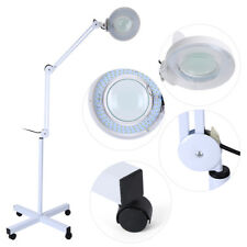 8X Magnifying Adjustable LED Lamp Lens Floor Stand Beauty Facial Salon Light