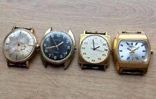 ✩ LOT of 4 Vintage ☭ VOSTOK RAKETA ZARJA USSR SOVIET wrist watches GOLD PLATED