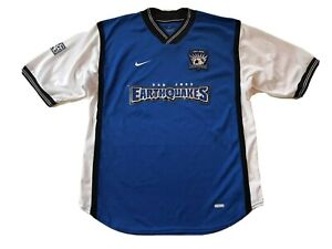 San Jose Earthquakes MLS Vintage 2000-2002 Nike Dri Fit Soccer Jersey Sz Medium