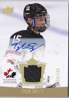 15-16 Team Canada Juniors Tyler Soy /199 Auto Patch Upper Deck 2015