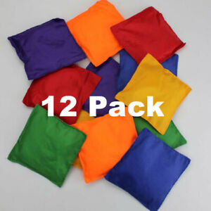 12 x Bean Bags Colourful PE Sports Day Throwing Catching Juggling Games Beanbags