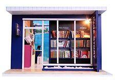 Miniatura de casa de muñecas kit Conjunto de página de tienda de Librería Historia