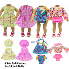 """Doll Clothes Accessories 4 Sets Doll Dress Hats for 18"""" Dolls Doll Outfits 67"""