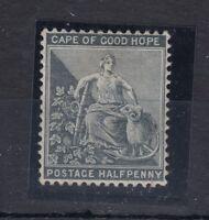 Cape of Good Hope 1884/90 1/2d Black SG48 Mint MH Gum J911