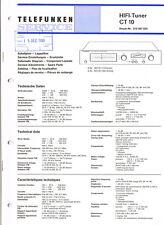Telefunken CT10 Tuner  Schaltplan Manual ORIGINAL 14 Seiten