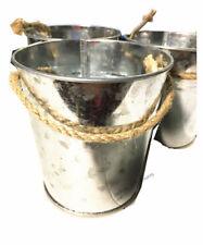 Rustic Tin Bucket 10.5x10cm Party Favours Treat Pot Bottle Wedding Engagement