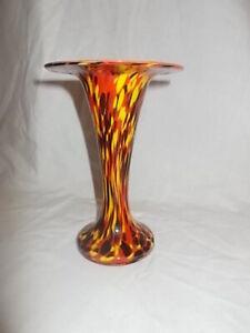 """Czechoslovakian Art Glass Vase, Franz Welz, 7"""" Tall"""