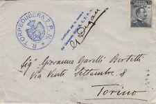 """4089) WW1 MARINA, ANNULLO """"R. TORPEDINIERA 7 P.N."""" E RELATIVA CENSURA."""