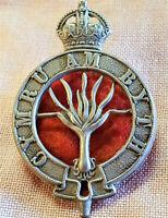 WW1 ERA BRITISH ARMY WESLSH GUARDS UNIFORM PUGAREE CAP BADGE