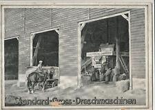 Prospekt Standard Gross Dreschmaschinen uralt