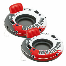 Intex River Run I Inflatable Water Floating Tubes - Fire Red Edition (2-Pack)