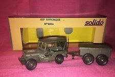 SOLIDO No. 6034 Jeep Remorque Willy's Jeep & Trailer - NEW OLD STOCK ~